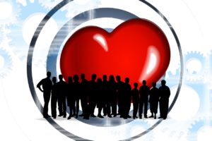 אנשים בתוך לב